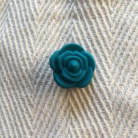 Kleine bloem - donkercyaan
