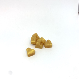 Klein hartje - parelmoer goud
