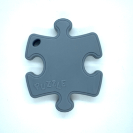 Puzzelstukje - donker grijs