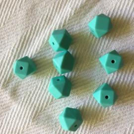 Kleine hexagon - licht turquoise