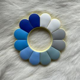 Bloem bijtfiguur - blauw tinten