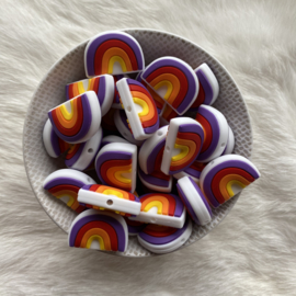 Rainbow bead round - purple/red
