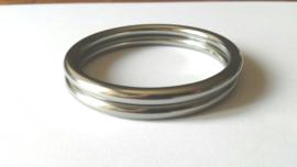Slingringen maat L - zilver glimmend