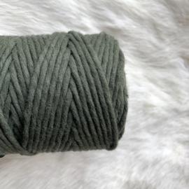 Macramé single twist - legergroen