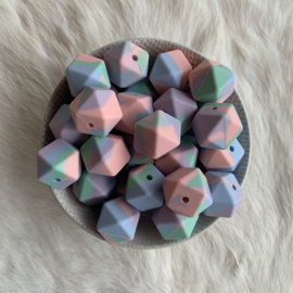 Hexagon - tie dye pastel