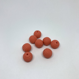 15mm striped - earth orange