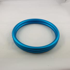 Slingringen maat M - turquoise mat