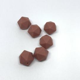 Icosahedron 17mm - mahogany