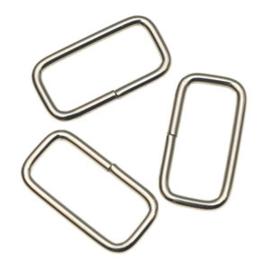 Passant rechthoekig - zilver 20mm