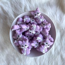 Vosje kraal zittend - lavendel