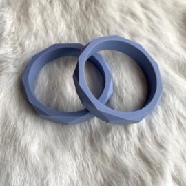 Armband siliconen - donker serenity