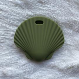 Sint jacobsschelp bijtfiguur - leger groen