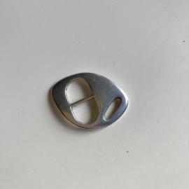 Schuifgesp armband - zilver
