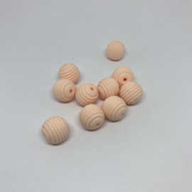 15mm striped - soft peach
