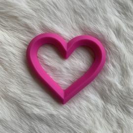 Hart met 2 gaten - fuchsia