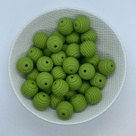 15mm striped - fern green