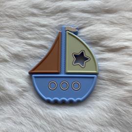 Boat teether - powder blue