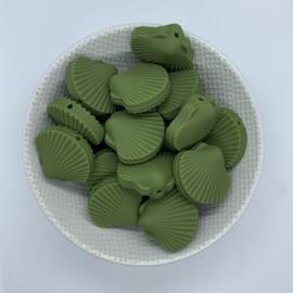 Sint Jacobs schelp kraal - leger groen