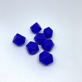Small hexagon - royal blue