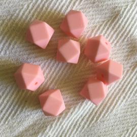 Kleine hexagon - licht roze