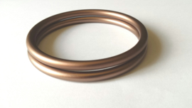 Slingrings size S - matte light bronze