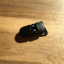 Pacifier clip plastic 20mm - black