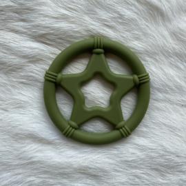 Star teether - army green