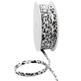 Ibiza koord - black white leopard