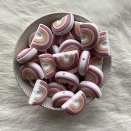 Rainbow bead round - pastel pink