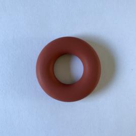Donut ring - roestbruin