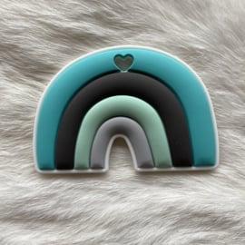 Regenboogje bijtfiguur - turquoise/mint