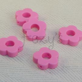 Rond bloemetje - roze