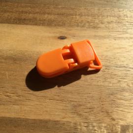 Pacifier clip plastic 20mm - orange