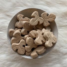 Houten kraal - monstera blad