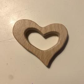 Houten hanger - hart groot