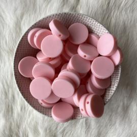 Platte ronde kraal 20mm - licht roze 2