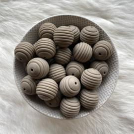 19mm striped - dark oat