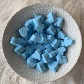 Klein hartje - baby blauw