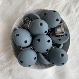 Speenclip siliconen KLEIN - donker grijs