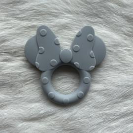 Mini mouse bijtring - licht grijs