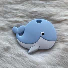 Blije walvis figuur - zacht blauw