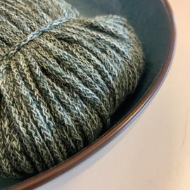 Macramé gevlochten koord - eucalyptus/donker groen