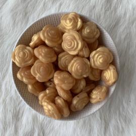 Kleine bloem - parelmoer goud