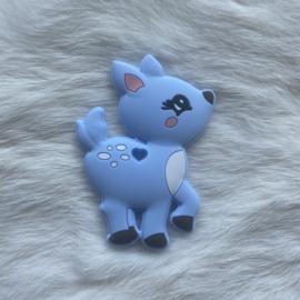 Deer teether - pastel blue