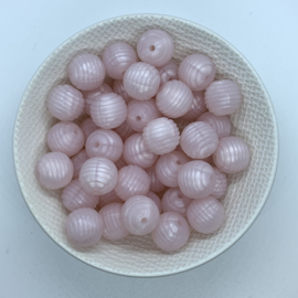 15mm striped - pearl pink