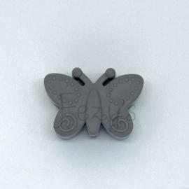 Vlinder kraal - donkerder grijs