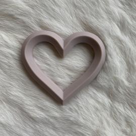 Hart met 2 gaten - rosy brown