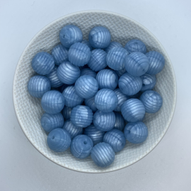 15mm striped - pearl blue