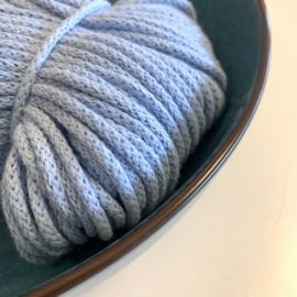 Macramé gevlochten koord - licht blauw