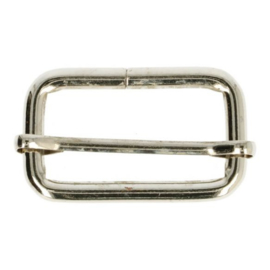 Schuifgesp - zilver 25mm
